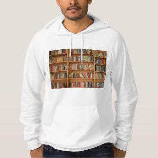 Bookshelf background hoodie