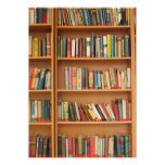 Bookshelf background invites