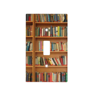 Bookshelf background light switch cover