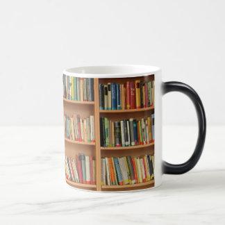 Bookshelf background magic mug