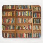Bookshelf background mouse pad