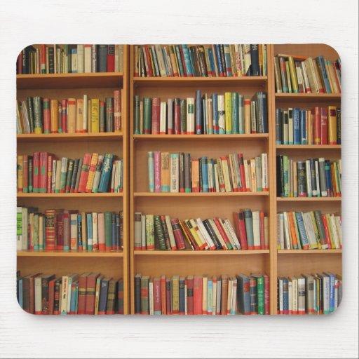 Bookshelf background mousepad