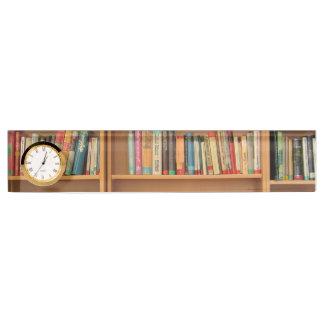Bookshelf background nameplate