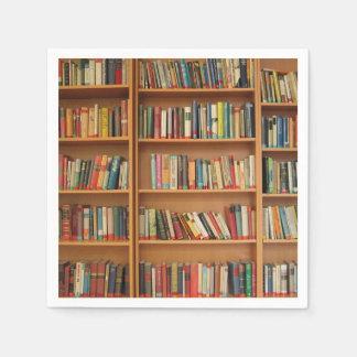 Bookshelf background paper napkin