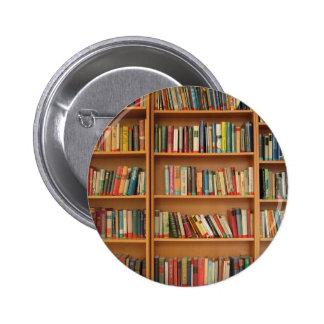 Bookshelf background pinback button