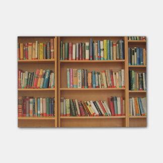 Bookshelf background post-it notes