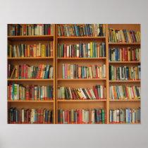 Bookshelf background poster