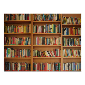 Bookshelf background poster