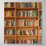 Bookshelf background print