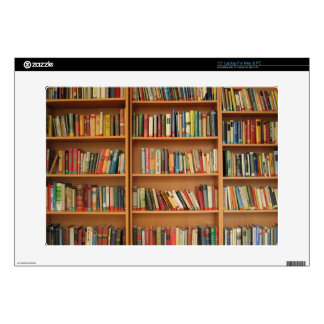Bookshelf background decals for laptops