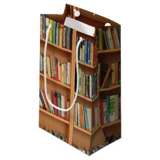 Bookshelf background small gift bag