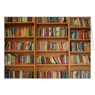 Bookshelf background stationery note card