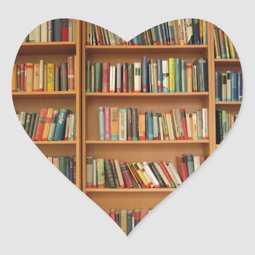 Bookshelf background sticker