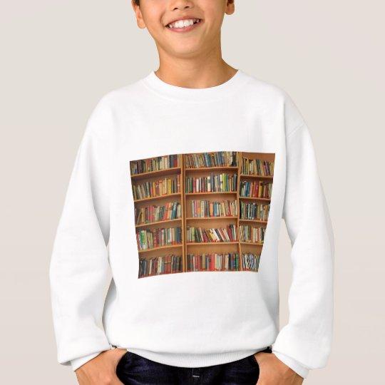 Bookshelf background sweatshirt