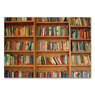 Bookshelf background table cards