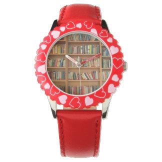 Bookshelf background watch