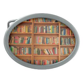 Bookshelf Books Library Bookworm Reading Belt Buckle