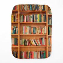 Bookshelf Books Library Bookworm Reading Burp Cloth