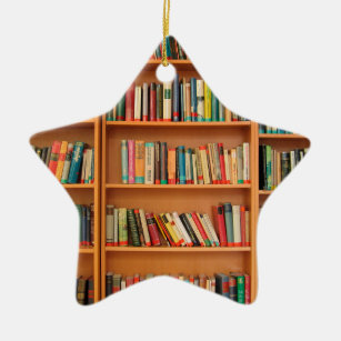 Library Ornaments & Keepsake Ornaments | Zazzle |Library Book Ornaments