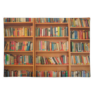 Bookshelf Books Library Bookworm Reading Cloth Placemat