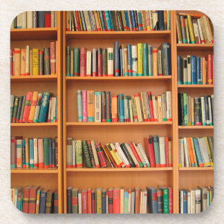Bookshelf Books Library Bookworm Reading Coaster