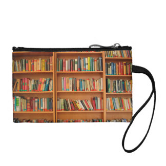Bookshelf Books Library Bookworm Reading Coin Purse