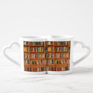 Bookshelf Books Library Bookworm Reading Couples Coffee Mug