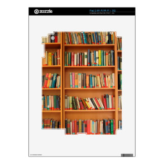 Bookshelf Books Library Bookworm Reading Decals For iPad 2