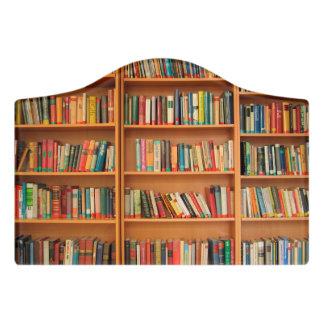 Bookshelf Books Library Bookworm Reading Door Sign