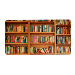 Bookshelf Books Library Bookworm Reading Label