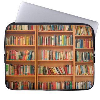 Bookshelf Books Library Bookworm Reading Laptop Sleeve