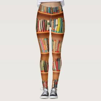 Bookshelf Books Library Bookworm Reading Leggings