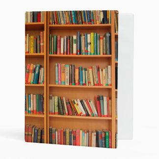 Bookshelf Books Library Bookworm Reading Mini Binder