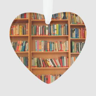 Bookshelf Books Library Bookworm Reading Ornament