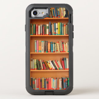 Bookshelf Books Library Bookworm Reading OtterBox Defender iPhone 8/7 Case