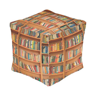 Bookshelf Books Library Bookworm Reading Outdoor Pouf