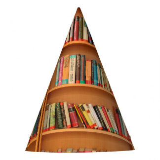 Bookshelf Books Library Bookworm Reading Party Hat