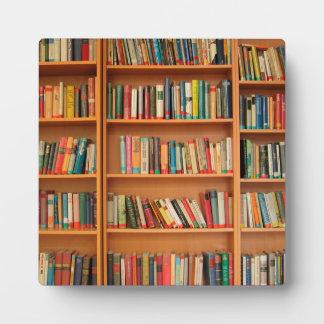 Bookshelf Books Library Bookworm Reading Plaque