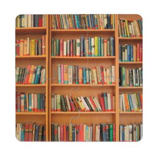 Bookshelf Books Library Bookworm Reading Puzzle Coaster