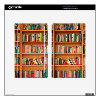 Bookshelf Books Library Bookworm Reading Skin For Kindle Fire