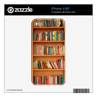 Bookshelf Books Library Bookworm Reading Skin For The iPhone 4