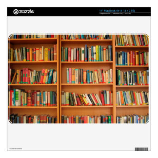 Bookshelf Books Library Bookworm Reading Skins For The MacBook Air