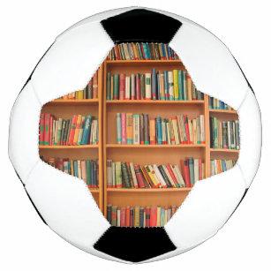 Bookshelf Books Library Bookworm Reading Soccer Ball