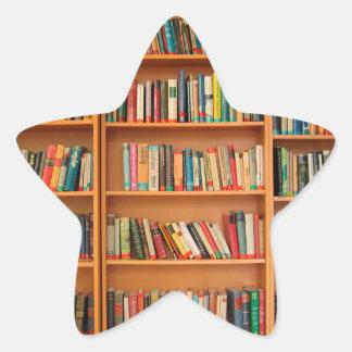 Bookshelf Books Library Bookworm Reading Star Sticker