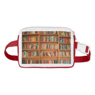 Bookshelf Books Library Bookworm Reading Waist Bag