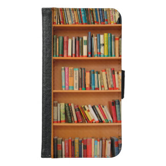 Bookshelf Books Library Bookworm Reading Wallet Phone Case For Samsung Galaxy S6