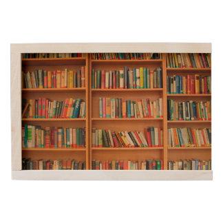 Bookshelf Books Library Bookworm Reading Wooden Keepsake Box
