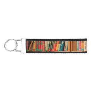 Bookshelf Books Library Bookworm Reading Wrist Keychain