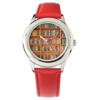 Bookshelf Books Library Bookworm Reading Wrist Watch