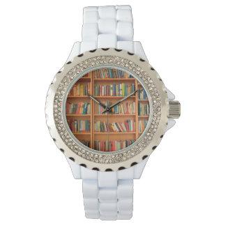 Bookshelf Books Library Bookworm Reading Wristwatch